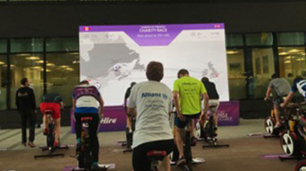 Cycling for Charity at Heathrow Airport