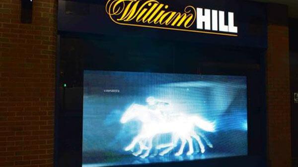 William Hill Unveils LED Window Display Ahead of Cheltenham Festival