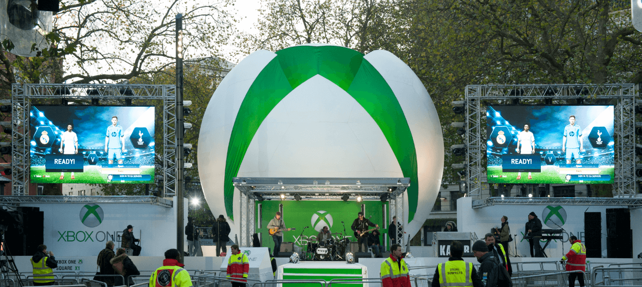 X-Box 1 launch stage screens