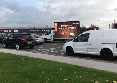 mobile advertising screen hire