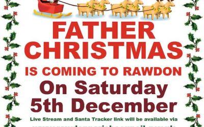 A Genuine Santa Sighting in Rawdon, Leeds!